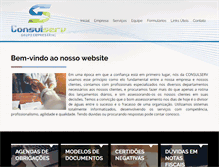 Tablet Preview of consulserv.com.br
